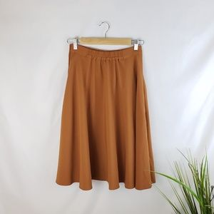 ModCloth Burnt Orange A-Line Skirt Size Small